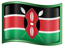 Kenya Flag icon Royalty Free Stock Image