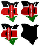 Kenya flag over map collage Stock Photography
