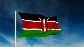 Kenya flag slider style. Waving in the wind with
