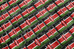Kenya Flag Urban Grunge Pattern Stock Photos