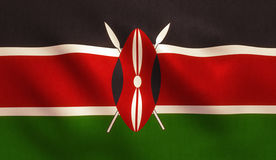 Kenya flagga royaltyfria foton
