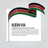 Kenya flaggabakgrund stock illustrationer