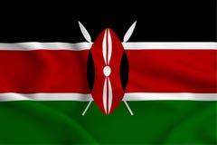 Kenya flaggaillustration royaltyfri illustrationer