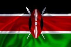 Kenya flaggaillustration vektor illustrationer
