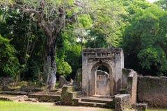 Kenya, Gede ruins laid in the vicinity of the Malindi resort Stock Photo
