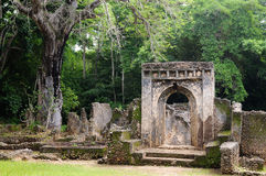 Kenya, Gede ruins laid in the vicinity of the Malindi resort Stock Images