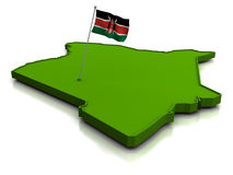 Kenya - Map and Flag Royalty Free Stock Photography