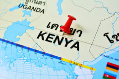 Kenya map Stock Images