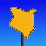 Kenya map warning sign Stock Photos