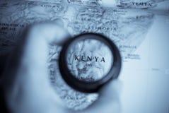 kenya mapa Obrazy Royalty Free