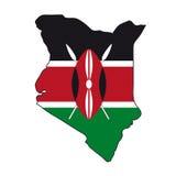 Kenya mapy bandery wektora