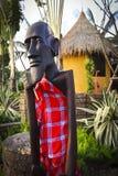 Kenya Masai wood carving Stock Photography