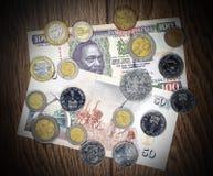 Kenya money Shilling, banknote and coins Royalty Free Stock Photo