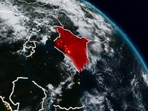 Kenya na noite ilustração do vetor
