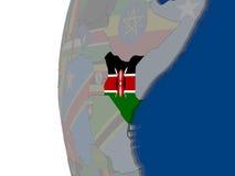 Kenya with national flag Royalty Free Stock Image