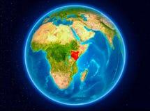 Kenya på jord vektor illustrationer