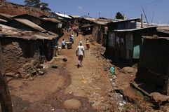 kenya s slum royaltyfria bilder