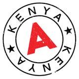 Kenya stamp rubber grunge Stock Photo