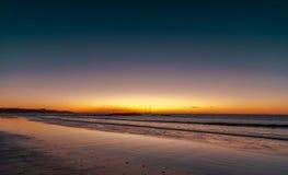 Kenya sunset beach Gold-purple velvet sea Royalty Free Stock Photos