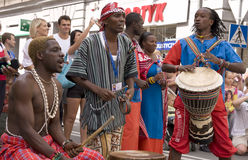 Kenya traditional folk group Royalty Free Stock Photos