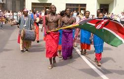 Kenya traditional folk group Royalty Free Stock Photos