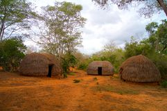 Kenya Traditional Houses Stock Image