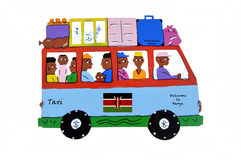 Kenya traveling. Royalty Free Stock Image
