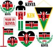 Kenya. Vector illustration (EPS 10 Royalty Free Stock Images