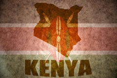 Kenya vintage map Royalty Free Stock Photography