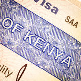 Kenya visa Royalty Free Stock Photos