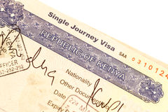 Kenya visa Stock Photos