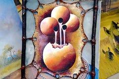 Kenyan art painting Stock Image