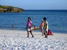Kenyan beach boys. Beach boys on the Watamu beach, Kenya Royalty Free Stock Image