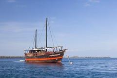 Kenyan Boat near the coast, editorial Stock Photos