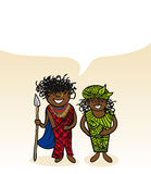 Kenyan cartoon couple social bubble Stock Photos