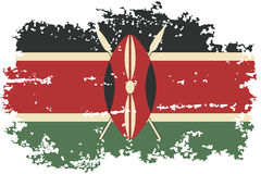 Kenyan grunge flag. Vector illustration. Stock Photography