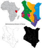 Kenyan map Royalty Free Stock Photography