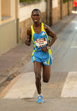 Kenyan marathon runner Eric Kibet Royalty Free Stock Photos