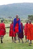 Kenyan masai jumping Royalty Free Stock Photo