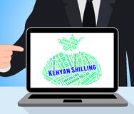 Kenyan Shilling Represents Foreign Currency e banconota Immagini Stock Libere da Diritti
