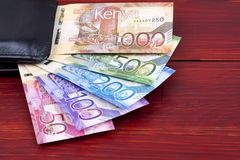 Free Kenyan Shillings In The Black Wallet Royalty Free Stock Photos - 153539968