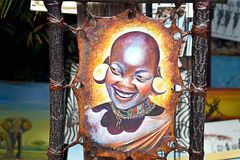 Kenyan woman painting Royalty Free Stock Photos