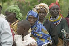 Kenyan women stand in line to get health checkup for HIV/AIDS at the Pepo La Tumaini Jangwani, HIV/AIDS Community Rehabilitation P Royalty Free Stock Images