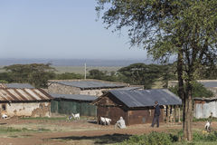 Kenyandorf Stockfotos