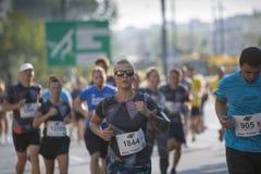 """Kenyans 2016 del †de Praga del maratón del 1/2 """"lo más rápidamente posible en Varsovia Fotografía de archivo"""