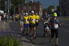 """Kenyans 2016 för 1/2 maratonPrague †""""snabbast i Warszawa Fotografering för Bildbyråer"""