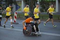 "Kenyans 2016 för 1/2 maratonPrague †""snabbast i Warszawa Royaltyfri Foto"