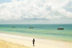 Kenyansk strand Royaltyfri Foto