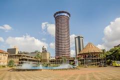 Kenyatta International Conference Centre i Nairobi, Kenya Royaltyfria Foton