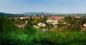 Kenzingen in Germany. View to the little town of Kenzingen in the south west of germany stock image